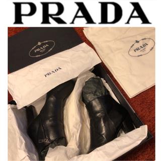 PRADA - 【高級感・高品質、定番モデルが歩きやすい!】PRADA プラダ ブーツ NERO