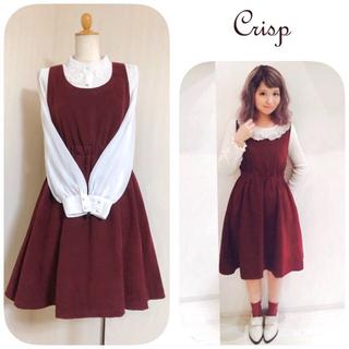 Crisp - クリスプ ♡ ピーチスキンジャンパースカート ♡