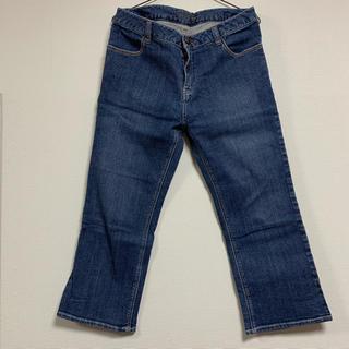 アルファキュービック(ALPHA CUBIC)のジーンズ  76センチ  後ろポケットに刺繍(デニム/ジーンズ)