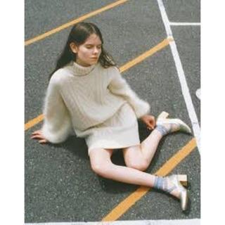 fur fur - 新垣結衣着用★FURFUR★ゲージミックスワンピース★ホワイト