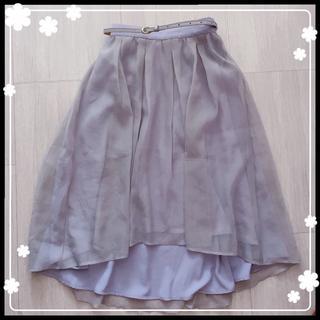 ナイスクラップ(NICE CLAUP)のNICE CLAUP チュールスカート(ひざ丈スカート)
