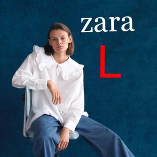 ZARA - 新品 L  ザラ ピーターパン 丸襟 ブラウス