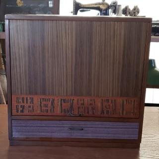 昭和レトロ 木製 鏡付き 引き出し 収納-小物入れ
