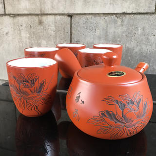 常滑焼 とこなめ焼 急須 湯飲み5個 お茶セット(食器)