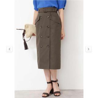ナチュラルビューティーベーシック(NATURAL BEAUTY BASIC)の2019SSほぼ新品*NBB×Oggi洗えるトレンチタイトスカート(ひざ丈スカート)