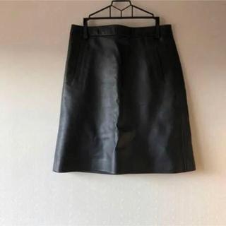 MACPHEE - 黒 レザースカート 膝丈スカート