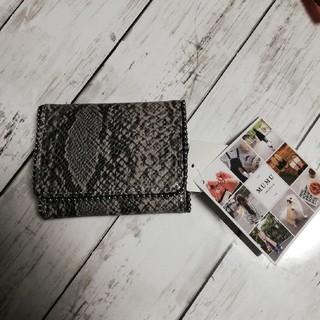 しまむら - MUMU パイソン柄折り財布