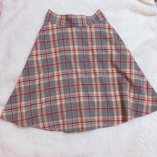 millebonheur ♥︎ チェックリボンスカート(ひざ丈スカート)