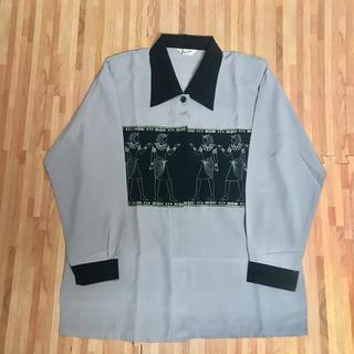 JOHN LAWRENCE SULLIVAN - ヴィンテージ  シャツ 80s  90s  マリアーノ風 刺繍