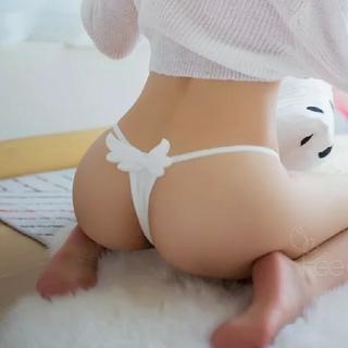 ⁽⁽ଘ( ˊᵕˋ )ଓ⁾⁾セクシーランジェリー 天使Tバック ショーツ ホワイト