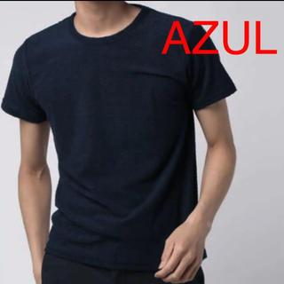 AZUL by moussy - 新品 AZUL アズールバイマウジー メンズ パイル Tシャツ クルーネック