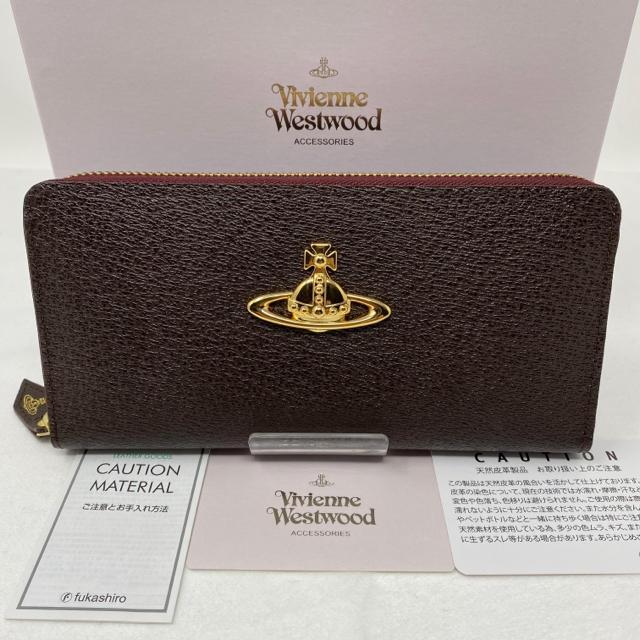 Vivienne Westwood - 未使用☺︎Vivienne Westwood 長財布 ダークブラウン オーブの通販