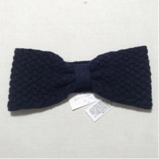 mina perhonen - 新品❤️リボンがかわいいヘアバンド ターバン  ネイビー 紺色