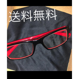送料無料 エンポリオアルマーニ メガネ 赤 黒 レッド ブラック 伊達 めがね