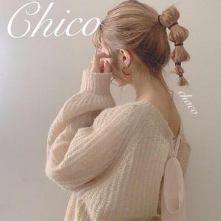 who's who Chico - 僅か⚠️AW新作🌹¥6490【Chico】バックリボンモテニット 春ニット