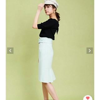 トランテアンソンドゥモード(31 Sons de mode)の2019SSトランテアンほぼ新品*バックフリルタイトスカート(ひざ丈スカート)