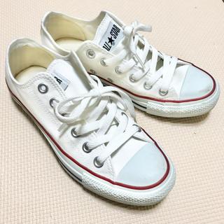 CONVERSE - converse スニーカー23.5㎝ホワイト
