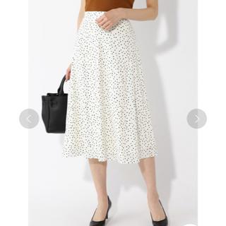 ナチュラルビューティーベーシック(NATURAL BEAUTY BASIC)の2019SSほぼ新品*NBBランダムドットプリントスカート(ひざ丈スカート)