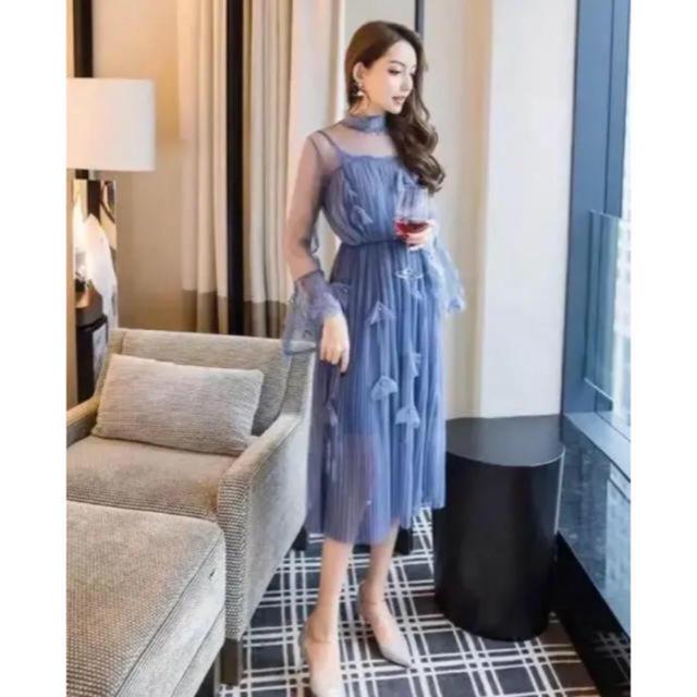 ZARA(ザラ)のレースワンピース  シースルー ドレス パーティー 結婚式 イエナ ナルシス レディースのフォーマル/ドレス(ロングドレス)の商品写真