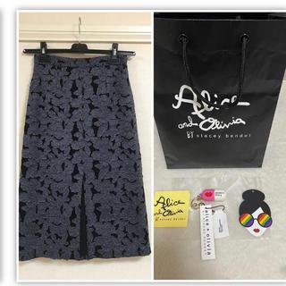 アリスアンドオリビア(Alice+Olivia)の値下げアリス+オリビア プリントスカート(ひざ丈スカート)