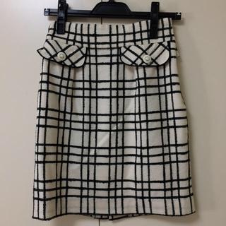 アプワイザーリッシェ(Apuweiser-riche)のアプワイザーリッシェ チェック タイトスカート サイズ0(ミニスカート)
