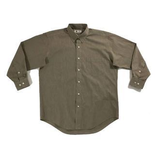 イッセイミヤケ(ISSEY MIYAKE)のイッセイミヤケimproduct襟スナップボタン留めシャツライトブラウンM(シャツ)