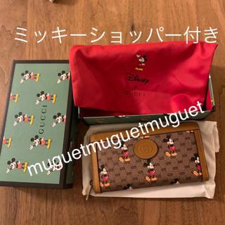 Gucci - gucci ミッキー 長財布