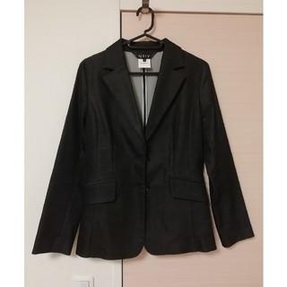インディヴィ(INDIVI)の【インディヴィ】テーラードジャケット ブラック 美品(テーラードジャケット)