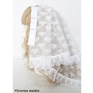 Victorian maiden - リボンレースマリアベール 白