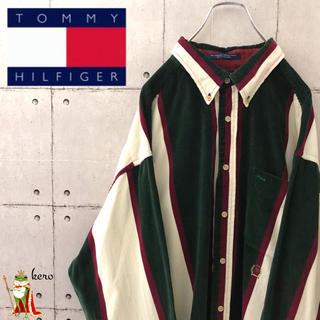 TOMMY HILFIGER - 【激レア】90s トミーヒルフィガー マルチストライプ コーデュロイ シャツ