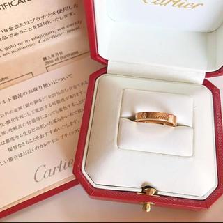 カルティエ(Cartier)のカルティエ K18PG エングレーブド 1Pダイヤ リング(リング(指輪))