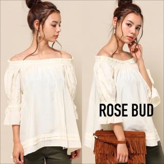 ROSE BUD - ROSE BUD オフショルダー ブラウス♡トゥモローランド リリーブラウン