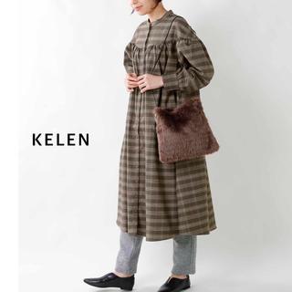 ケレン(KELEN)の【新品未使用】KELEN(ケレン)ボリュームギャザーシャツワンピース Ella(ひざ丈ワンピース)