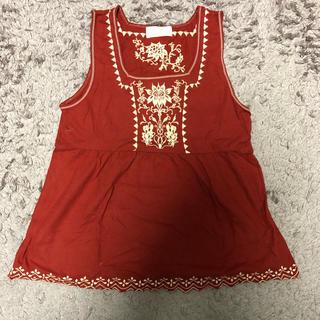 赤刺繍タンクトップ(タンクトップ)