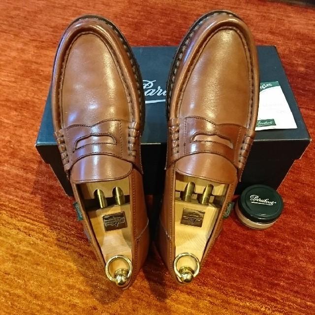 Paraboot(パラブーツ)の【使用2回・極美品】パラブーツ ランス RElMS/マロン/UK7 #オールデン メンズの靴/シューズ(ドレス/ビジネス)の商品写真