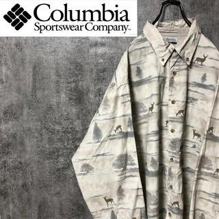 Columbia - 【激レア】コロンビア☆アニマル柄シカ柄総柄ロゴタグ入りビッグハンティングシャツ