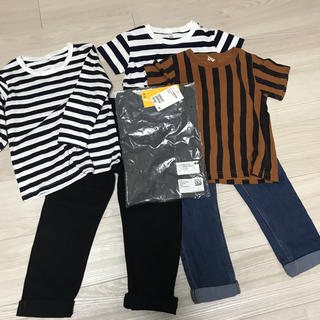 プティマイン(petit main)の100 ボーイズシンプル 6点セット(Tシャツ/カットソー)