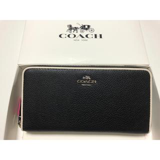 COACH - 新品未使用品★コーチ エッジペイント ペブルド レザー長財布 F12585