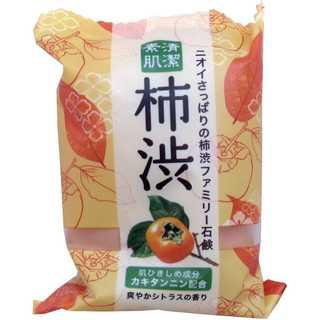 ニオイさっぱり柿渋石鹸!清潔素肌 ファミリー柿渋石鹸 80g(ボディソープ/石鹸)