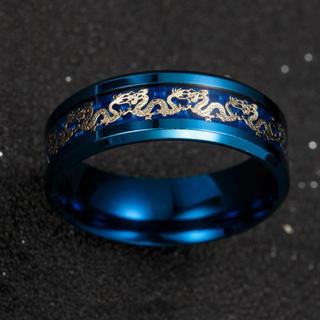 双龍リング ステンレスリング  ステンレス指輪 ピンキーリング(リング(指輪))