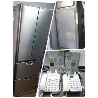 ヒタチ(日立)の故障品 日立RY370(365L)4ドア冷蔵庫 両開き 説明書あり(冷蔵庫)