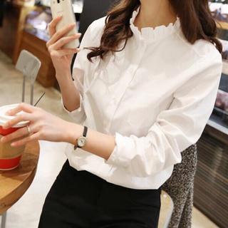 Lily Brown - アウトレット○長袖襟フリルシャツ