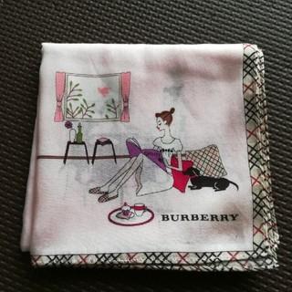 バーバリー(BURBERRY)の未使用 バーバリー ハンカチ ピンク BURBERRY (ハンカチ)