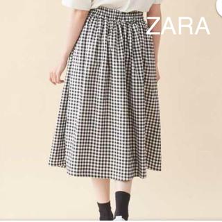 ZARA - 【ZARA 】ブロックチェックスカート♡モノトーン