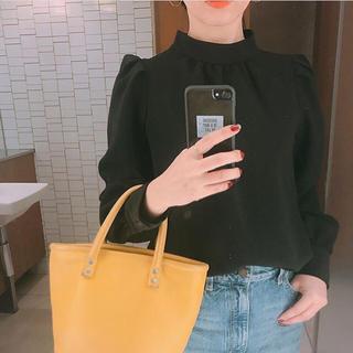 GU - ★新品 タグ付き GU ジーユー 美シルエット ハイネックブラウス ブラック