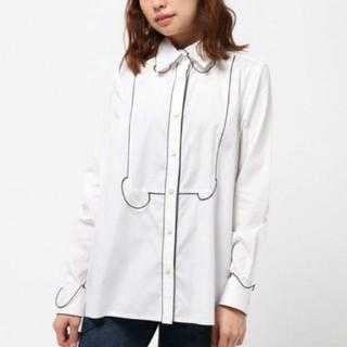 ファセッタズム(FACETASM)の極美品 FACETASM 個性派 変形コードシャツ ホワイト(シャツ/ブラウス(長袖/七分))