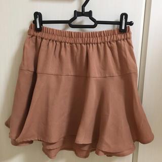 ナイスクラップ(NICE CLAUP)のミニスカート ピンク テラコッタ オレンジ(ミニスカート)