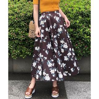 トランテアンソンドゥモード(31 Sons de mode)の新品花柄スカート(ロングスカート)