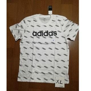 adidas - 今季最新作‼️adidasサイズXL ミニロゴT 白XL 未使用タグ付