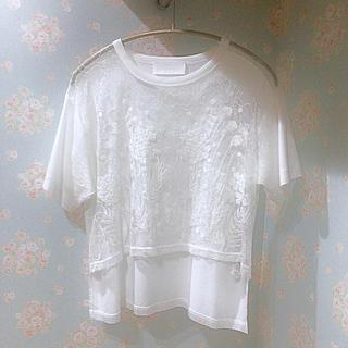 mame - mame 16ss カットソー レース Tシャツ  刺繍 ホワイト サイズ1